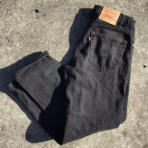 Vintage Levi Strauss 505 black denim jeans